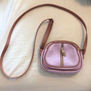 Valentina pink leather crossbody
